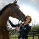 Schijf :  dinsdag 25 april 2017     Aniek de Laat met Endyrava       foto : Gerard van Offeren paardensport ,
